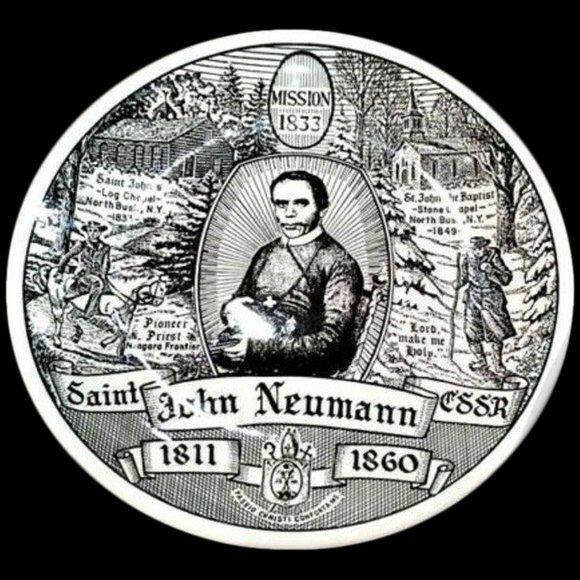 SOLD!!! Kreisshaus St John Neumann Ceramic Plate